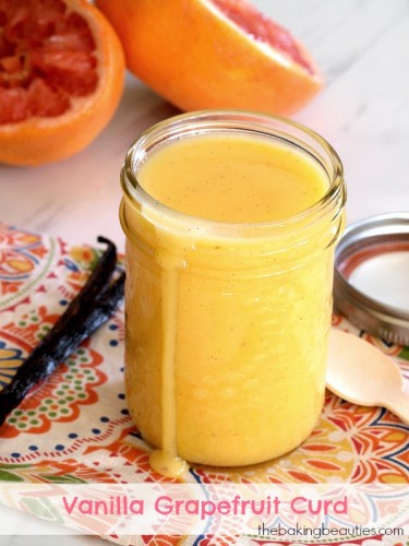 Whip up this easy Vanilla Grapefruit Curd in minutes from The Baking Beauties