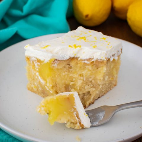 Gluten Free Lemon Poke Cake recipe