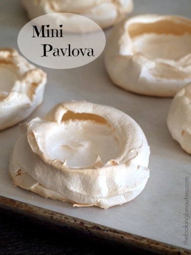 Create a simple, but elegant dessert with these naturally gluten free Mini Pavlova from The Baking Beauties