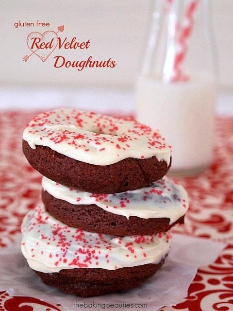Gluten Free Red Velvet Doughnuts (Baked) by Faithfully Gluten Free
