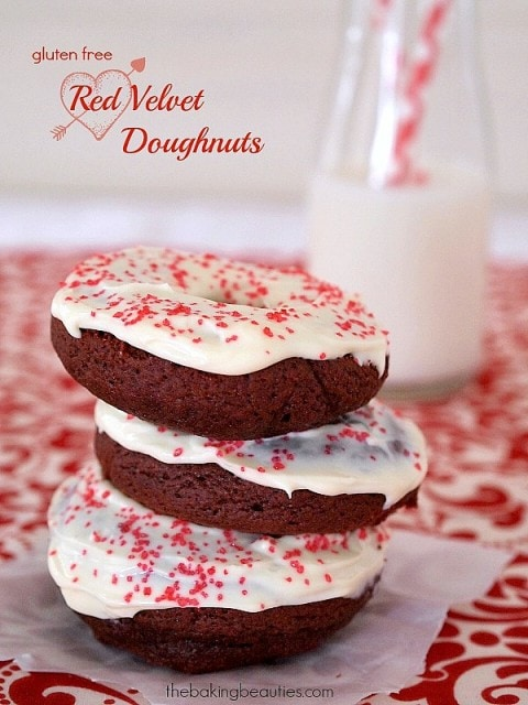 Gluten Free Red Velvet Doughnuts from The Baking Beauties