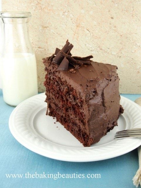 Gluten Free Devil's Food Cake with Mocha Buttercream from The Baking Beauties