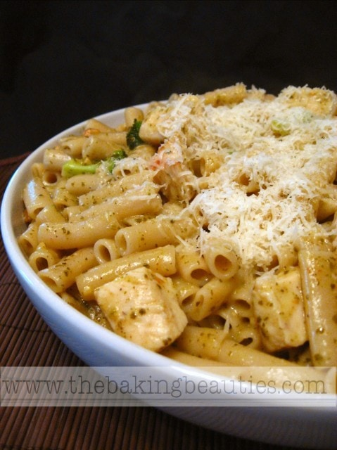 Penne with Chicken and Pesto from The Baking Beauties