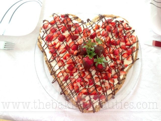 Gluten Free Valentine's Cookie Pizza from The Baking Beauties