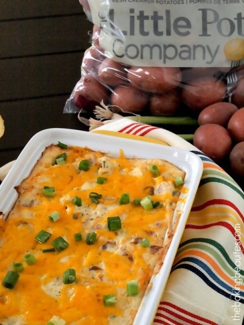 You've got to try this Loaded Baked Potato Dip. It's out o this world! from The Baking Beauties