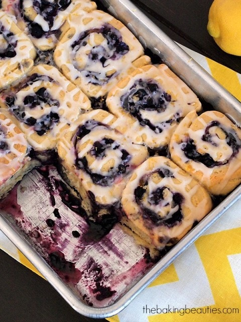Gluten Free Blueberry Sweet Rolls from The Baking Beauties