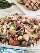 Who says potato salad has to have mayo? Check out this Mediterranean Potato Salad from The Baking Beauties! #littlepotatoes #ad