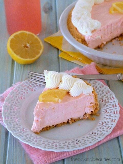 Gluten Free Pink Lemonade Pie from the Baking Beauties