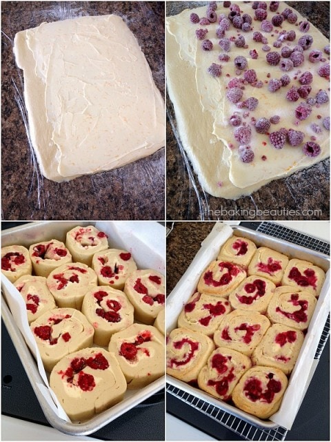 Gluten Free Raspberry Cream Cheese Sweet Rolls from The Baking Beauties