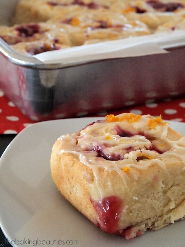 Gluten Free Raspberry Cream Cheese Sweet Rolls - oh yeah!! from The Baking Beauties