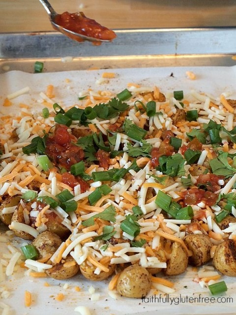 Easy Potato Nachos using #CreamerPotatoes