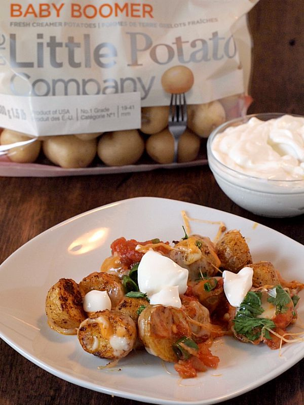 Easy Potato Nachos using #CreamerPotatoes
