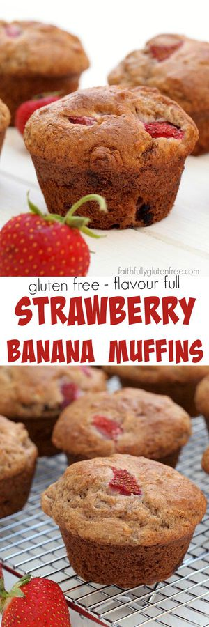 No gluten? Are you serious? These Strawberry Banana Muffins are amazing!