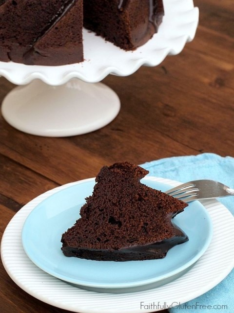 Gluten Free Chocolate Buttermilk Bundt Cake from Faithfully Gluten Free
