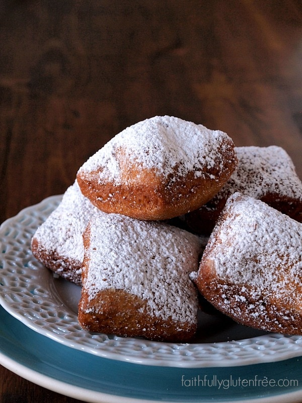 Gluten Free Pumpkin Spice Beignets from Faithfully Gluten Free