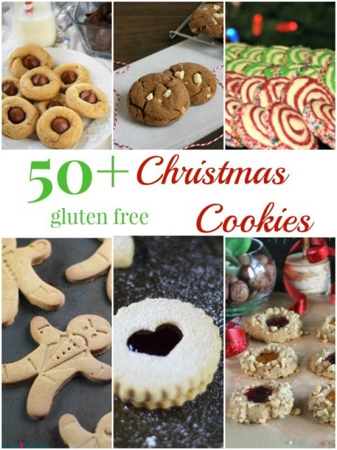 50 + Gluten Free Christmas Cookies from your favorite gluten free bloggers