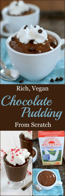 It's so easy to make this Rich, Vegan Chocolate Pudding from Scratch. There's a new #dairyfree milk available.