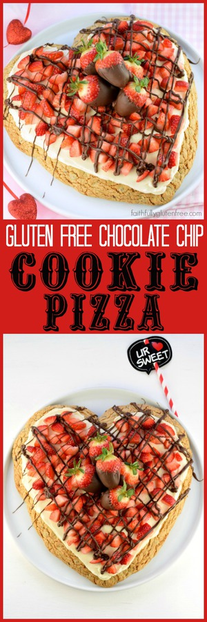 Gluten Free Chocolate Chip Cookie Pizza - Faithfully Gluten Free
