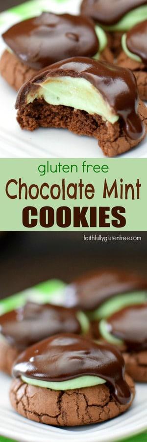 Gluten free chocolate mint cookies faithfully gluten free