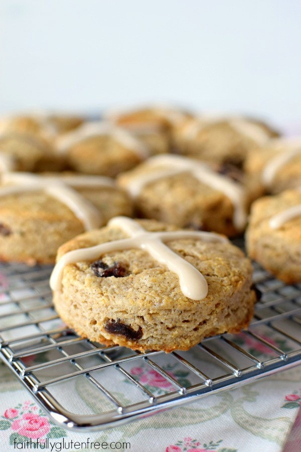 These gluten free Hot Cross Scones are so easy to make! Perfect for Easter brunch!