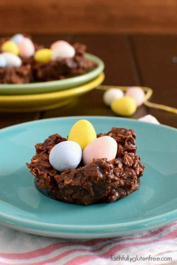 Add some fun to the Easter table with these Gluten Free No Bake Chocolate Nests