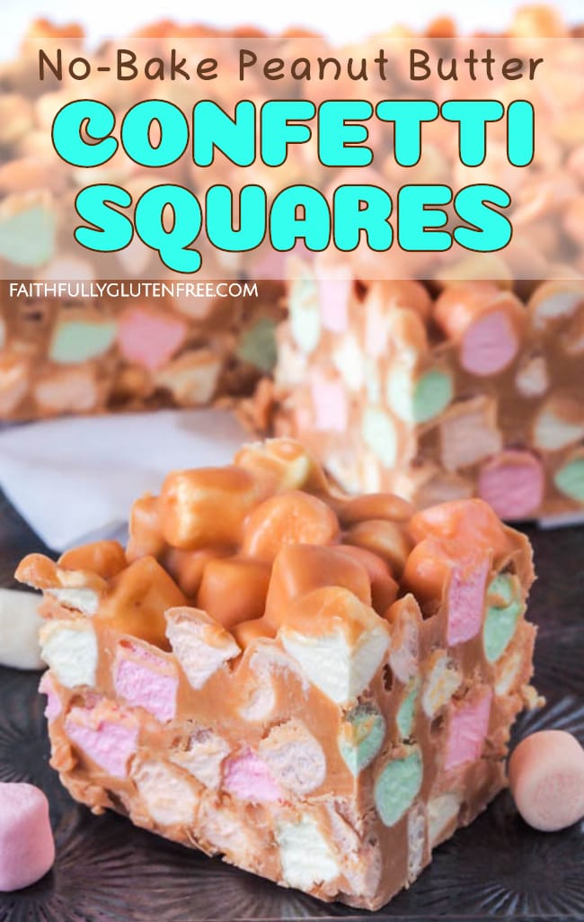 Easy No-Bake Peanut Butter Confetti Squares