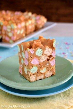 Peanut Butter Confetti Squares Faithfully Gluten Free