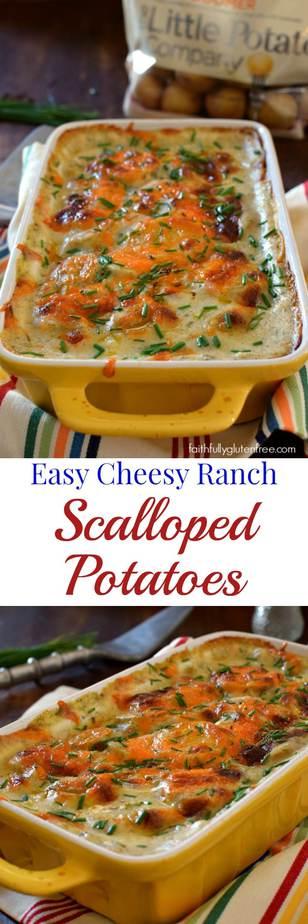 Easy, Cheesy Ranch Scalloped Potatoes