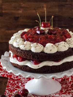 Easy Flourless Black Forest Cake From Scratch Faithfully