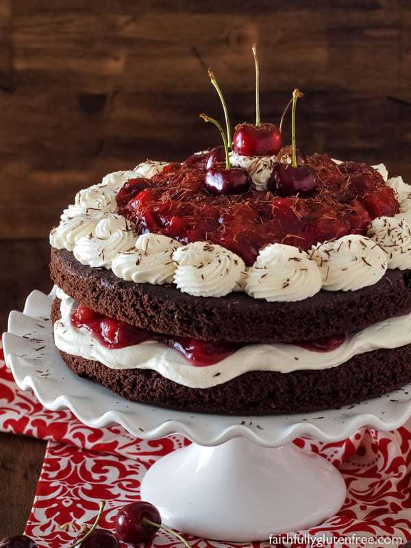 Flourless Black Forest Cake - no weird flours needed to create this decadent dessert!