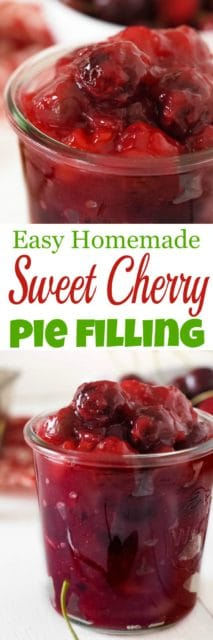 Easy Sweet Cherry Pie Filling from scratch (gluten & dairy free)