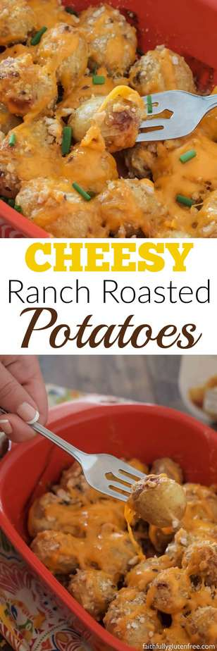 Cheesy Ranch Ranch Potatoes - A quick, easy side to go with dinner tonight.