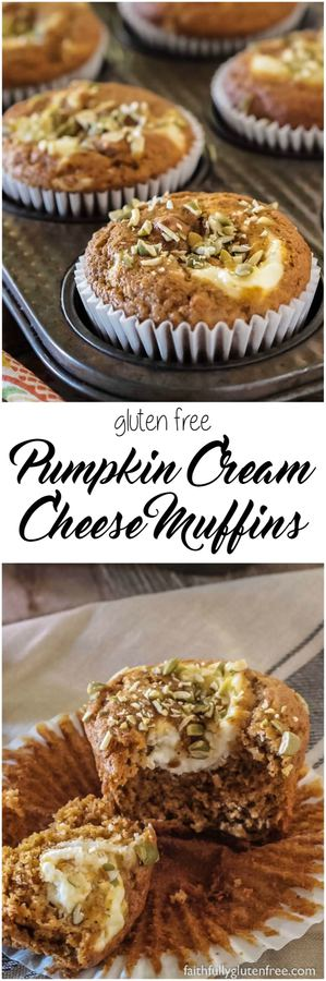 Skip the coffee shops, and make your own gluten free Pumpkin Cream Cheese Muffins at home. They taste much better, and cost a whole lot less.Soft, spicy muffin swirled with a dollop of cream cheese is perfect with a cup of coffee for an afternoon pick-me-up.