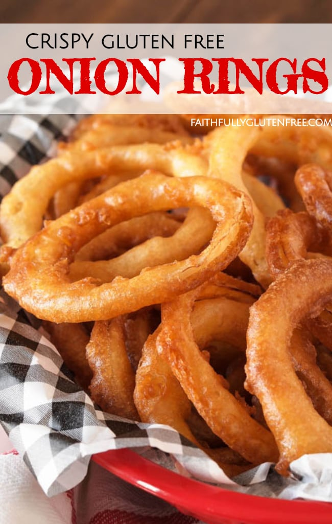 A tray of gluten free onion rings