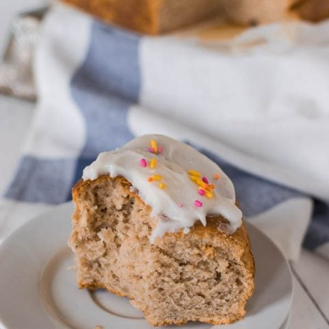 These gluten free Peppernut Buns, also called Papante or Spice Buns, are sweet yeast buns with warming spices, including black pepper. Topped with a simple icing, and sprinkles, they are a traditional Mennonite Easter bun.