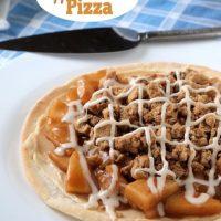 Easy Apple Crumble Pizza #WhatTheHack