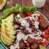 Easy, Layered BLT Potato Salad