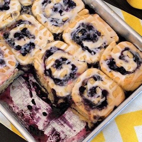 Gluten Free Blueberry Sweet Rolls