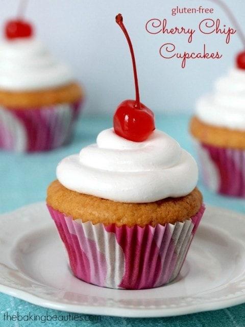 Gluten Free Cherry Chip Cupcakes