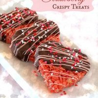 Chocolate Dipped Strawberry Crispy Treats
