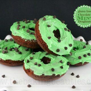 Gluten Free Chocolate Mint Doughnuts
