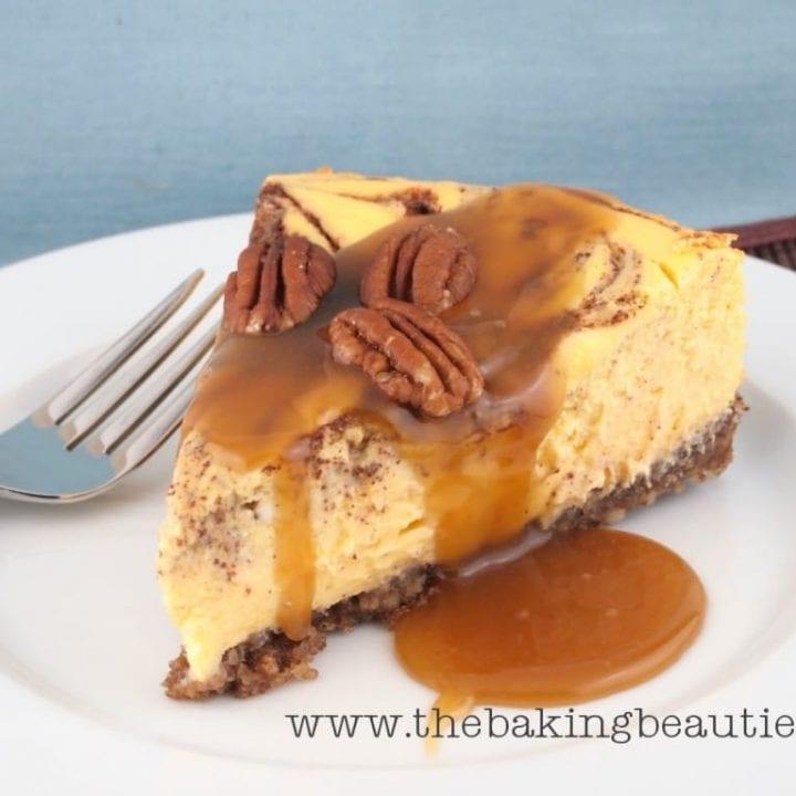 Gluten-free Cinnamon Bun Cheesecake