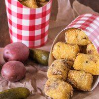 Fried Potato Pickle Pops
