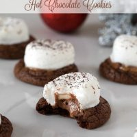 Gluten Free Caramel Hot Chocolate Cookies