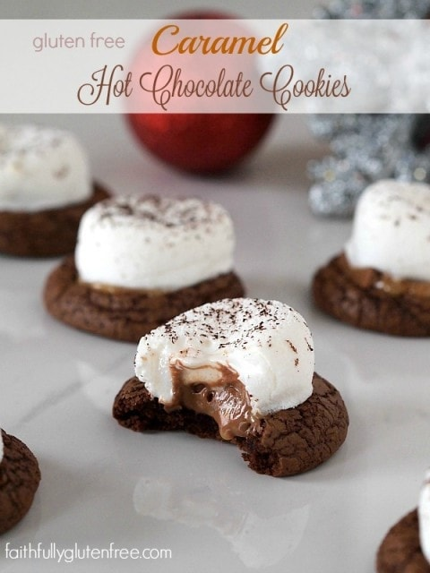 Gluten Free Caramel Hot Chocolate Cookies
