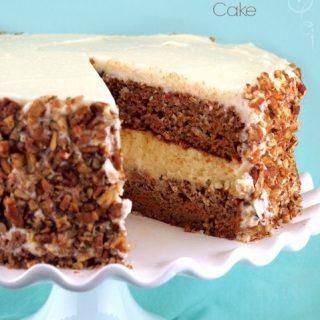 Gluten-Free Layered Carrot & Cheesecake Cake
