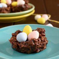 Gluten Free No Bake Chocolate Nests
