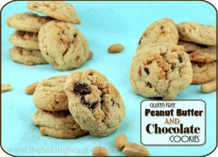 Gluten Free Peanut Butter and Chocolate Cookies