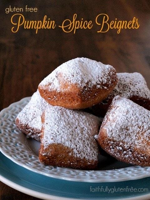 Gluten Free Pumpkin Spice Beignets