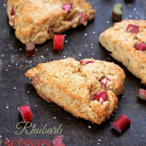 Gluten Free Rhubarb Scones